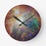 Orion Nebula Round Clock