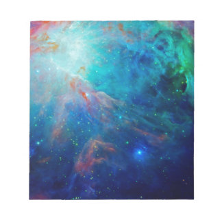 Orion Nebula shimmering blue NASA Notepad