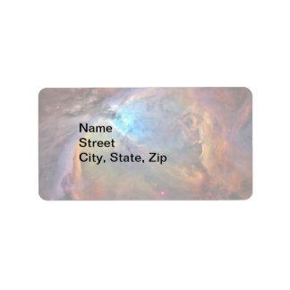 Orion Nebula Space Galaxy Label