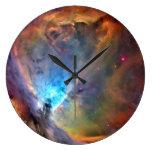 Orion Nebula Space Galaxy Large Clock