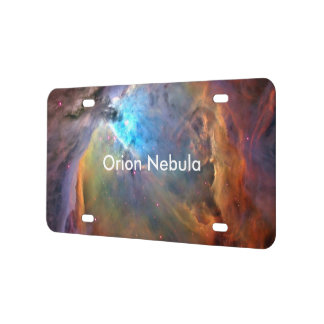 Orion Nebula Space Galaxy License Plate