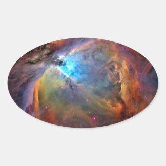 Orion Nebula Space Galaxy Oval Sticker