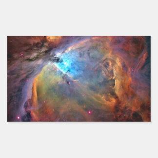 Orion Nebula Space Galaxy Rectangular Sticker