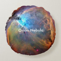 Orion Nebula Space Galaxy Round Pillow