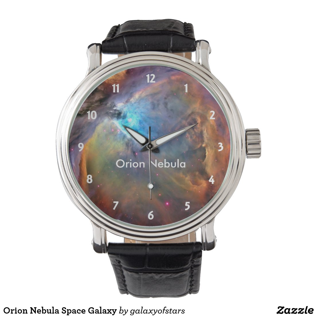Orion Nebula Space Galaxy Wrist Watch