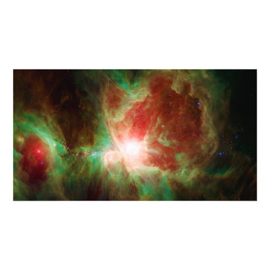 Orion Nebula Taken By The Spitzer Telescope Photo Print