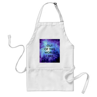 Orion Nebula Turquoise Periwinkle Lavender Galaxy Adult Apron
