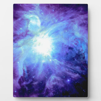 Orion Nebula Turquoise Periwinkle Lavender Galaxy Plaque