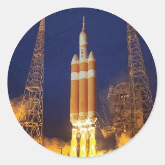 Orion Spacecraft Liftoff Classic Round Sticker