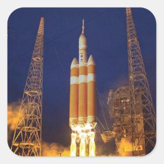 Orion Spacecraft Liftoff Square Sticker