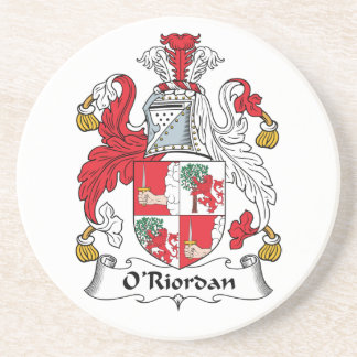 O'Riordan Family Crest Drink Coaster