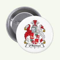 O'Riordan Family Crest Button