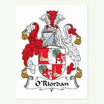 O'Riordan Family Crest Postcard