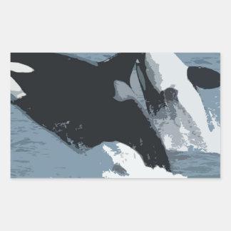 Orka Whale Rectangular Sticker