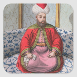 Orkhan (1288-1359), Sultan 1326-59, from 'A Series Square Sticker