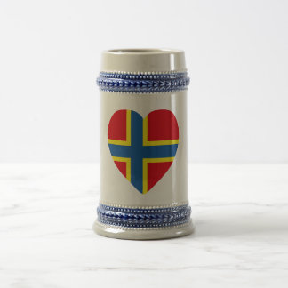 Orkney Flag Heart Beer Stein