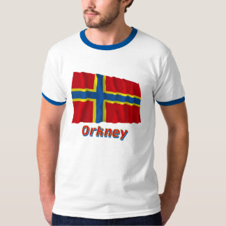 Orkney Waving Flag with Name T-Shirt