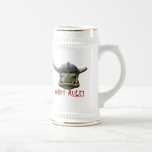 Orks Rule! 18 Oz Beer Stein