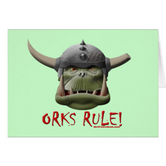 Orks Rule! Greeting Card