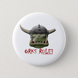 Orks Rule! Pinback Button