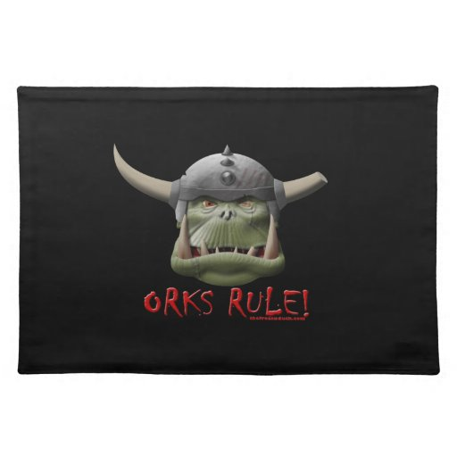 Orks Rule! Placemat