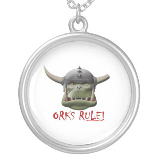 Orks Rule! Round Pendant Necklace