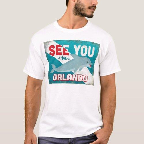 Orlando Dolphin - Retro Vintage Travel