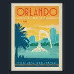 """Orlando, FL Postcard<br><div class=""""desc"""">Anderson Design Group is an award-winning illustration and design firm in Nashville,  Tennessee. Founder Joel Anderson directs a team of talented artists to create original poster art that looks like classic vintage advertising prints from the 1920s to the 1960s.</div>"""