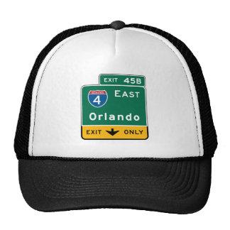 Orlando, FL Road Sign Mesh Hat