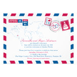 Orlando Florida Airmail Post Wedding Reception Personalized Announcements