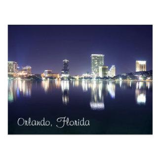 Orlando, Florida at night as seen from Lake Eola Postcard