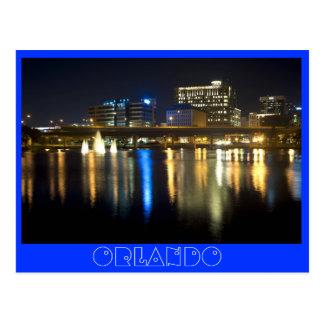 Orlando, Florida at night from across Lake Lucerne Postcard