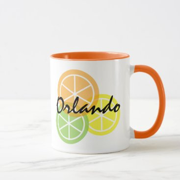 Coffee Themed Orlando Florida Citrus Orange LimeLemon Coffee Mug