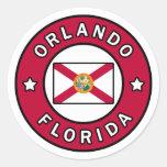 Orlando Florida Classic Round Sticker