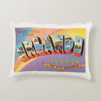 Orlando Florida FL Old Vintage Travel Souvenir Decorative Pillow