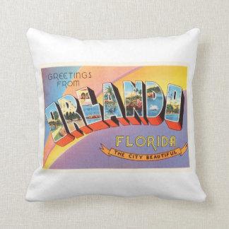 Orlando Florida FL Old Vintage Travel Souvenir Throw Pillow