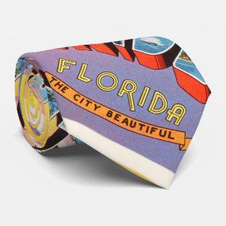 Orlando Florida FL Old Vintage Travel Souvenir Tie