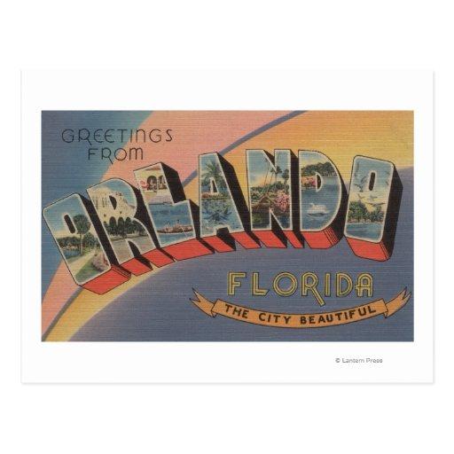 Orlando, Florida - Large Letter Scenes 2 Postcard