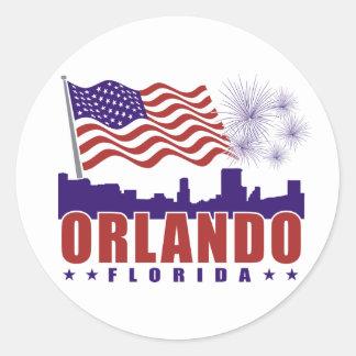 Orlando Florida Patriotic Sticker
