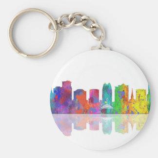 ORLANDO, FLORIDA SKYLINE - Button keychain