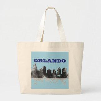 ORLANDO, FLORIDA SKYLINE LARGE TOTE BAG