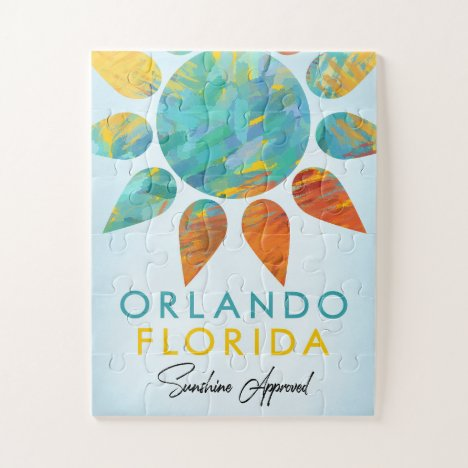 Orlando Florida Sunshine Travel Jigsaw Puzzle