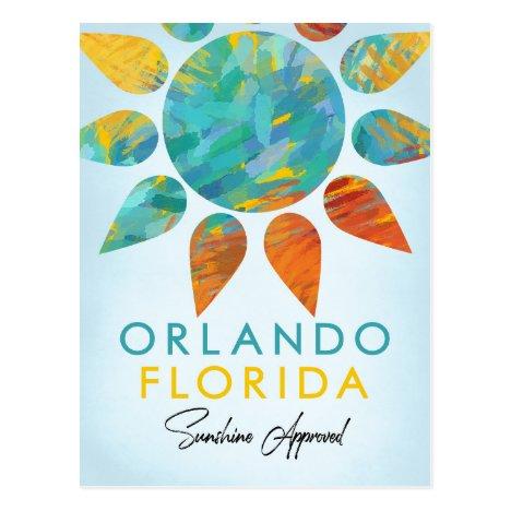 Orlando Florida Sunshine Travel Postcard