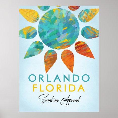 Orlando Florida Sunshine Travel Poster