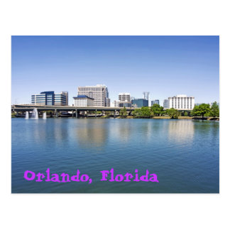 Orlando, Florida, viewd from Lake Lucerne Postcard