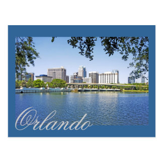 Orlando, Florida viewed from Lake Lucernee Postcard
