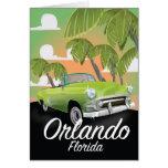 Orlando Florida vintage travel poster Card