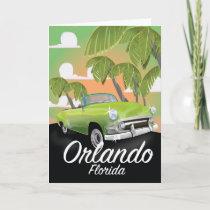 Orlando Florida vintage travel poster