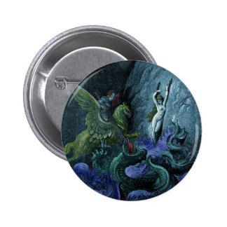 Orlando Furioso vintage gothic button