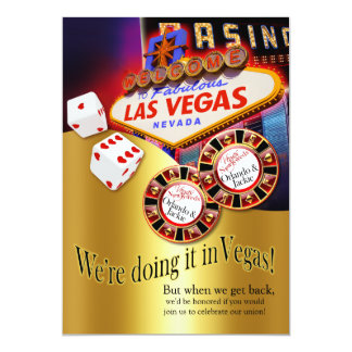 Orlando & Jackie Las Vegas Reception Card